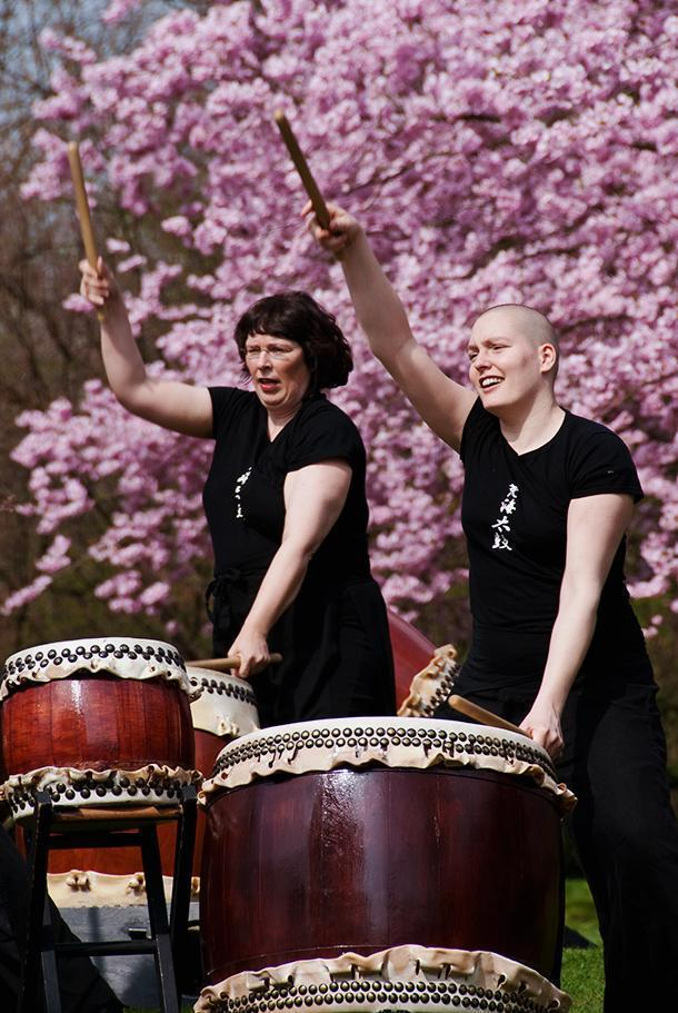Traditional Japanese drumming in Hasselt