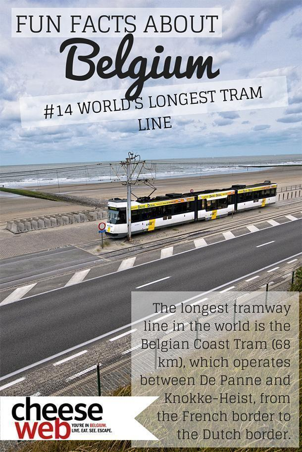 Belgium facts: The Belgian coast tram is the longest in the world