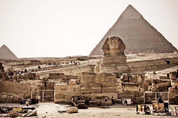Pyramid Fields of Giza, Cairo, Egypt
