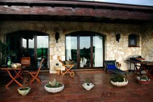 The terrace at B&B Castiglias
