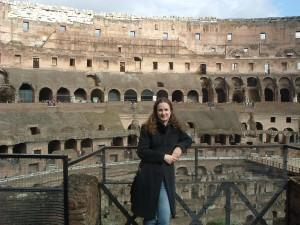 Marilla seeing the sights in Rome