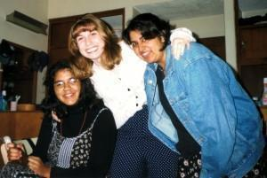 From our first days at Kings' (Left to right: LeeAnn, Me (yes my pants hanve polkadots. What's it to you?) and Tez.