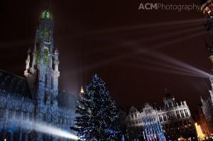 Grand Place Christmas Light Show