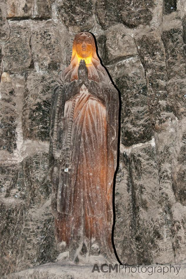 Virgin Mary Carved from Salt