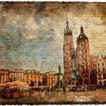 Krakow, Poland - Forgotten Postcard  Digital Collage Art
