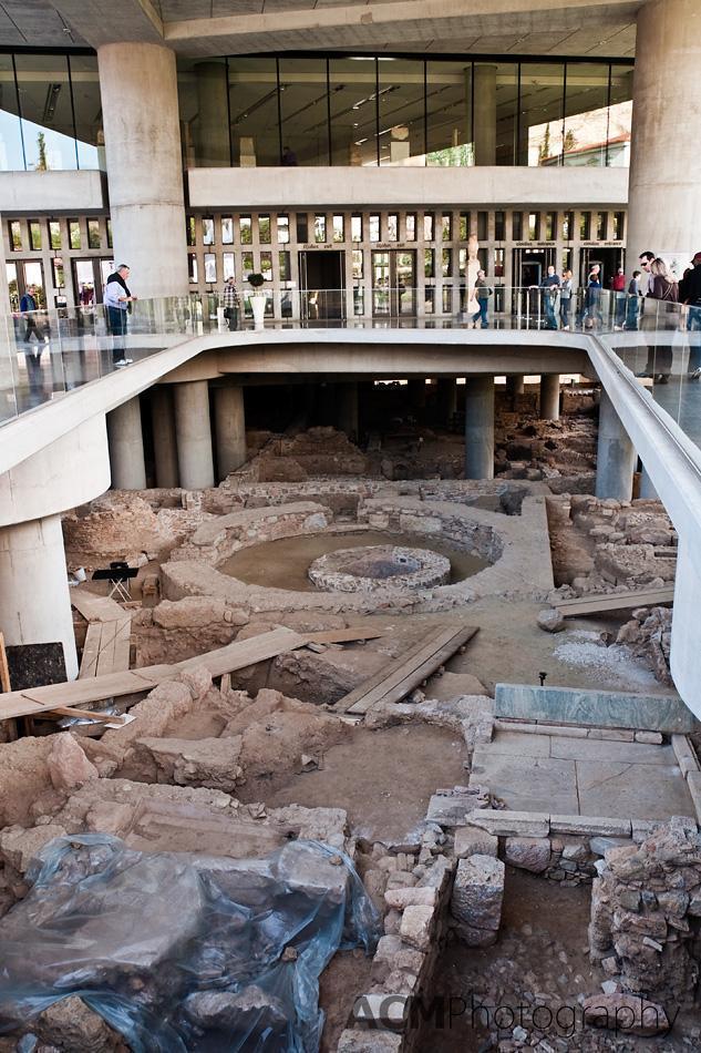 Excavation under the Acropolis Museum