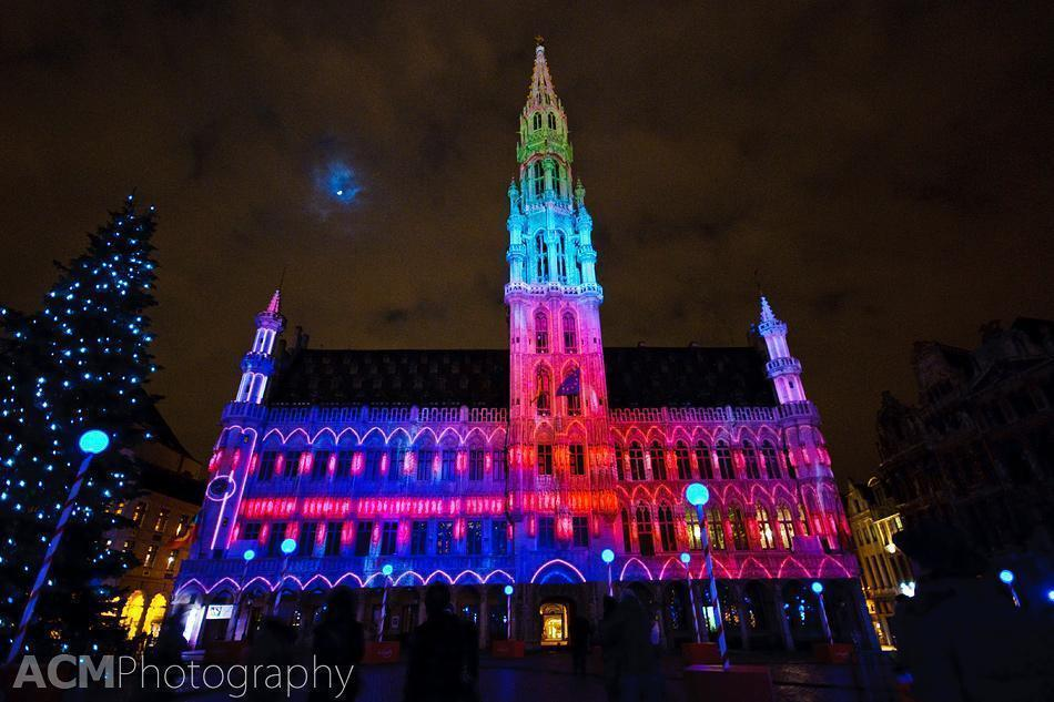 The Electrabel Nights Lightshow in Grand Place