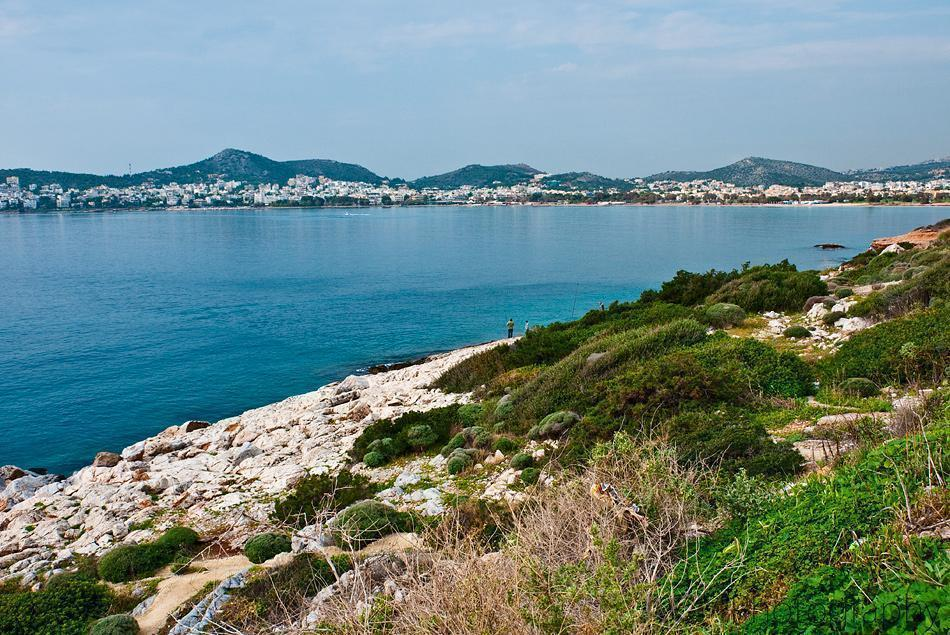 View of Vouliagmeni from the coast road
