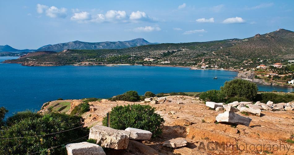 View from Poseidon Temple at Cape Sounion