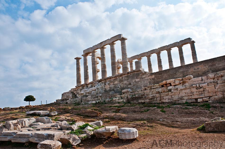 Poseidon Temple and Olive tree