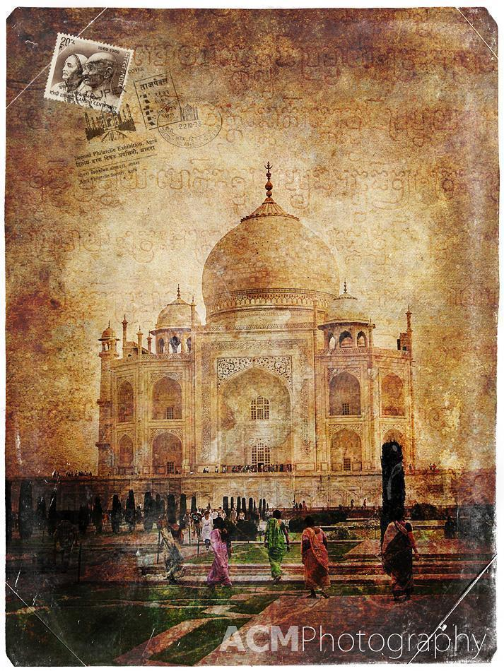 Taj Mahal, Agra, India - Forgotten Postcard