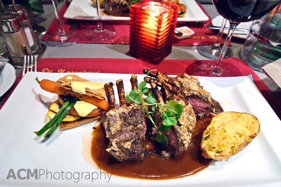 Rack of Lamb at De Kraanbrug Restaurant, Mechelen