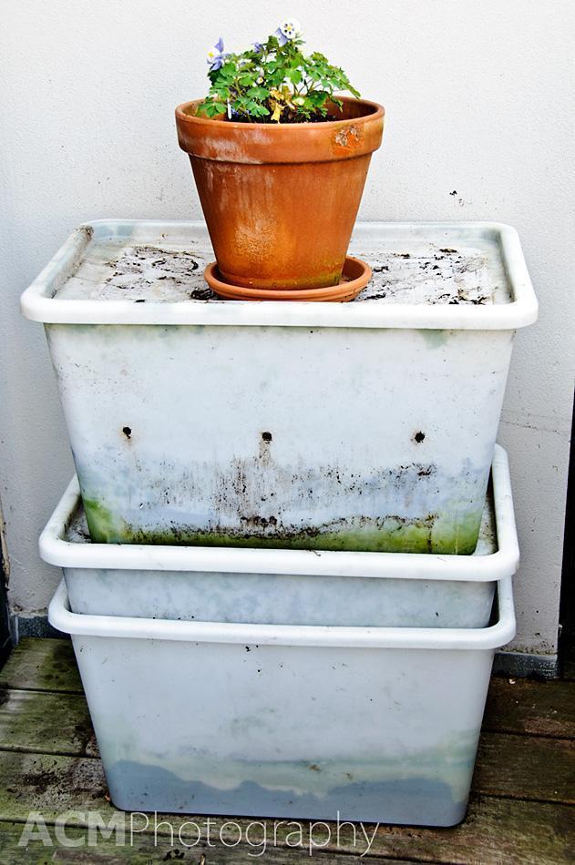 Terrace Composting setup