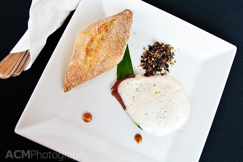 Wild Mushroom Tortellini on smoked duck breast with caramelised wild garlic