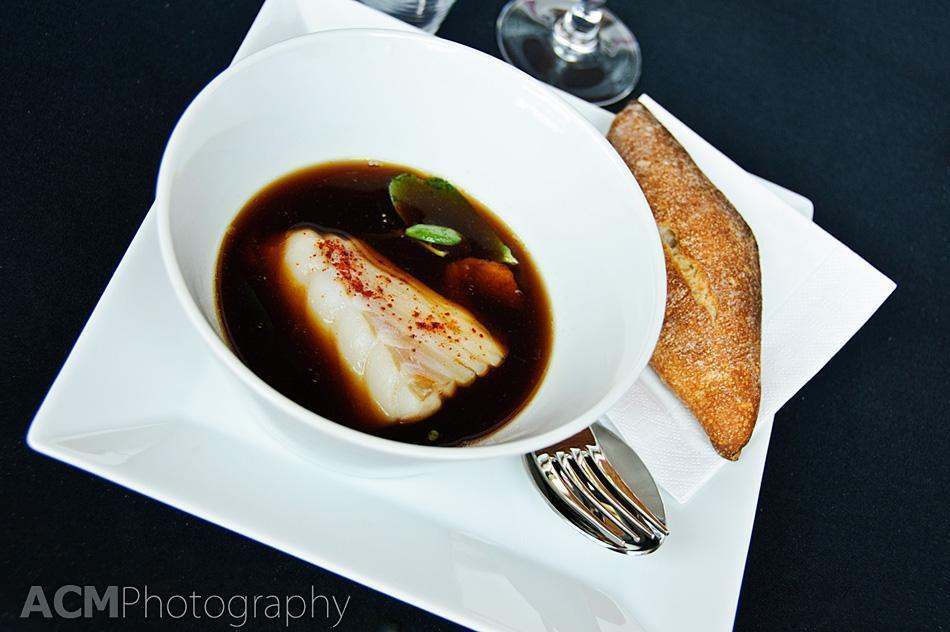 Cod in a ginger and lemon sauce