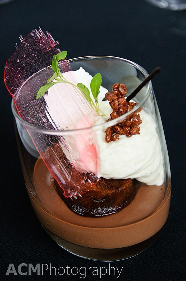 chocolate crème, coffee and vanilla foam