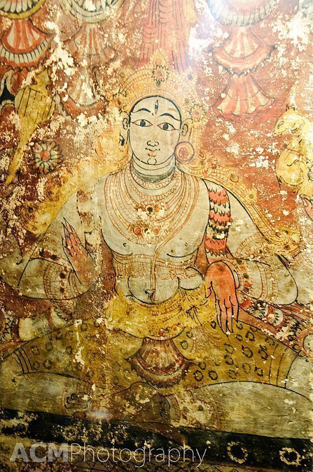 Painting of Lord Shiva in the Veerabhadra temple, Lepakshi