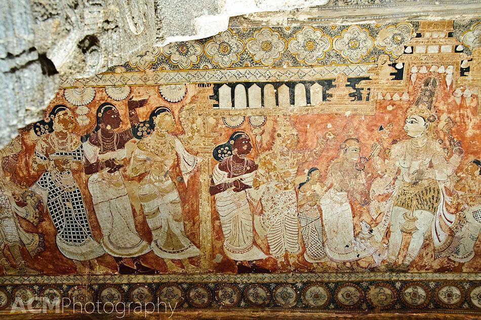 Ceiling Painting in the Veerabhadra temple