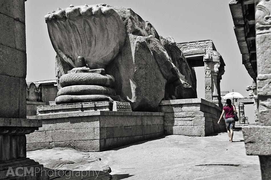 The Shiva Lingam at the Veerabhadra Temple, Lepakshi