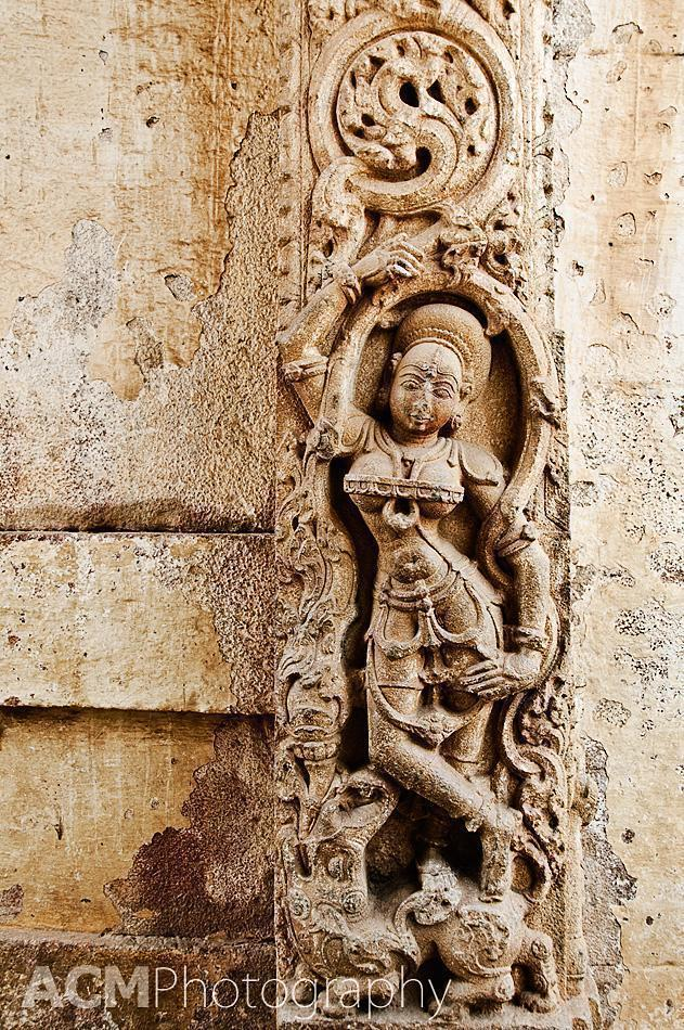 Carving detail at the Bhoganandishwara Temple