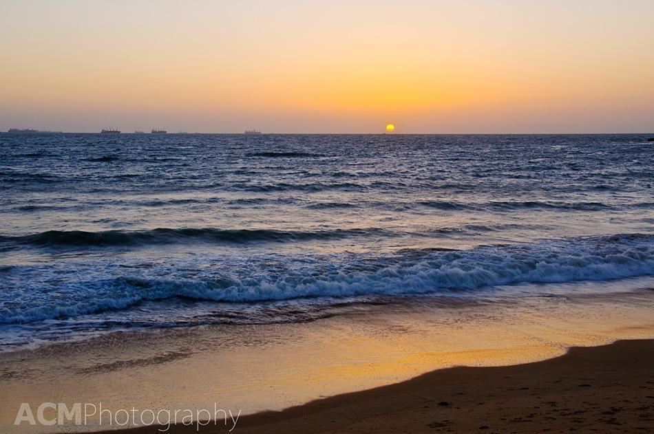 The spectacular sunset from Calamari's