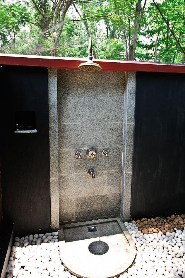 Open-air rain shower