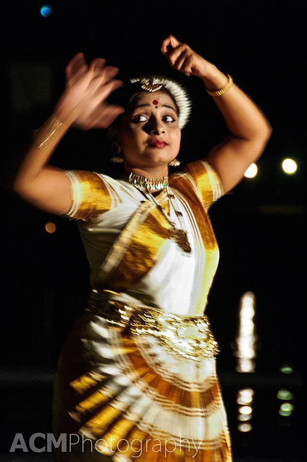 Traditional dancer at the Taj Kumarakom
