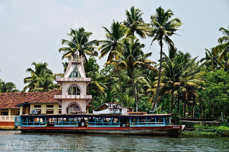 A bus boat on the Kerala Backwaters