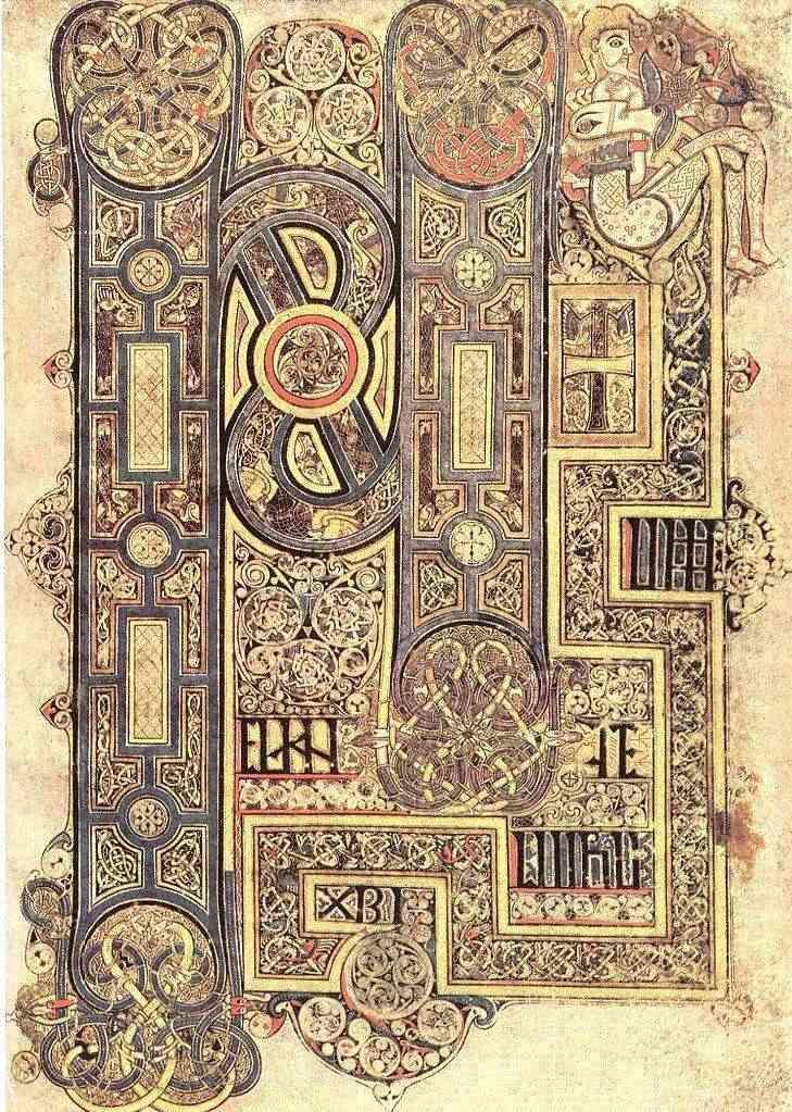 Detail from the Book of Kells