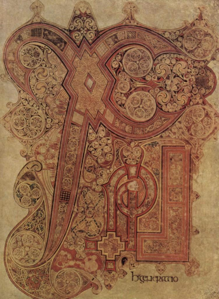 Detail of The Book Of Kells