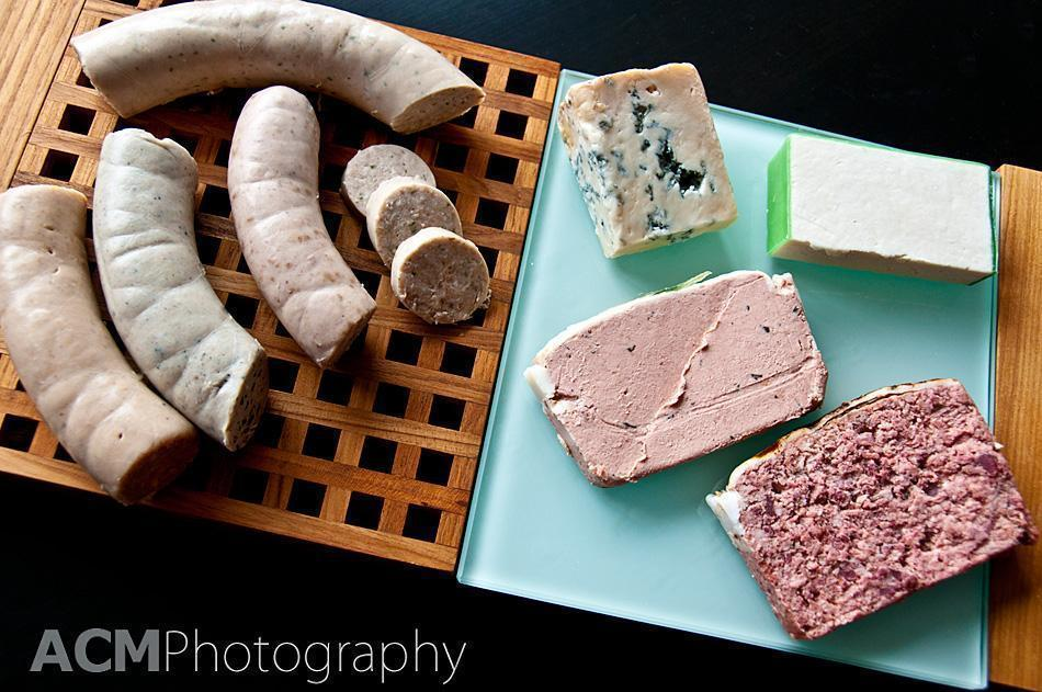 Boudin, paté and cheese