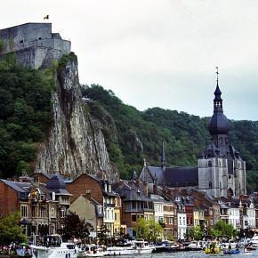 The Citadel of Dinant perched above the city