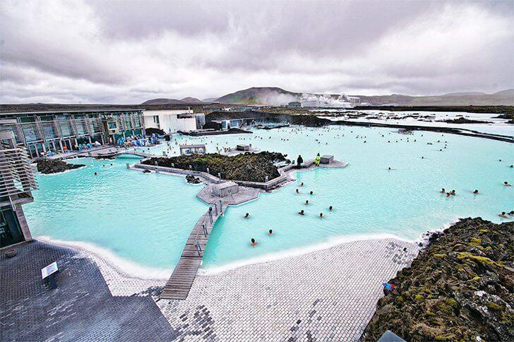 Layover at the Blue Lagoon in Iceland