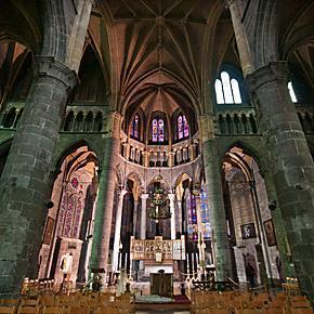 Notre-Dame Collegiate Church in Dinant, Belgium.
