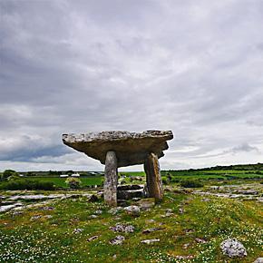 The Poulnabrone Dolmen in the Burren, Ireland