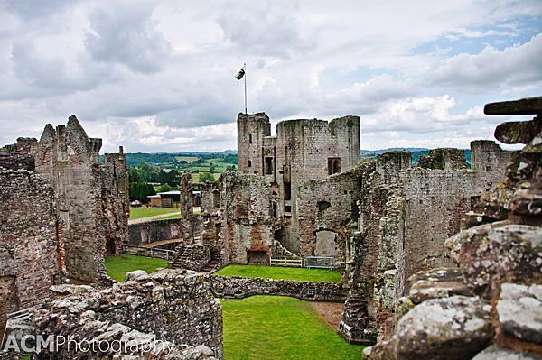 Interior of Raglan Castle