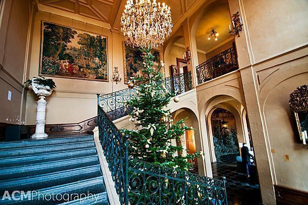 The Grand Staircase in the Chateau de Modave, Belgium