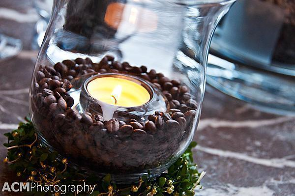 Candle and Coffee Beans