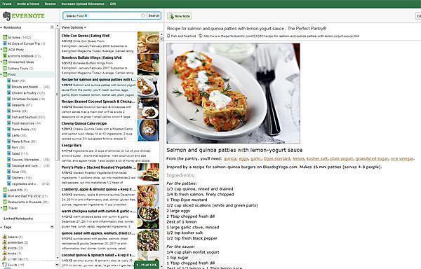 Evernote for Recipes