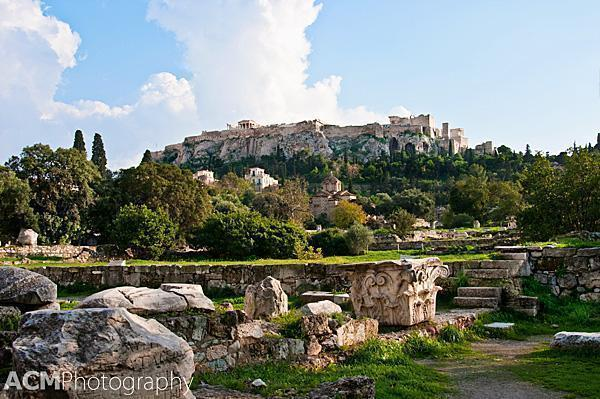 The Agora, in the shadow of the Acropolis