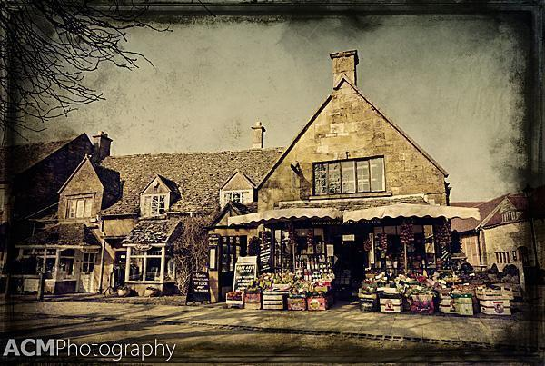 A market in Broadway, The Cotswolds