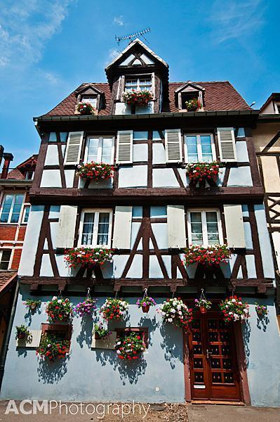 Timber-frame architecture in Colmar