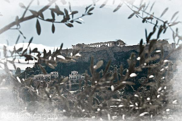 View of the Acropolis from the Agora below