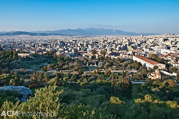 Bird's Eye View of the Agora, Athens