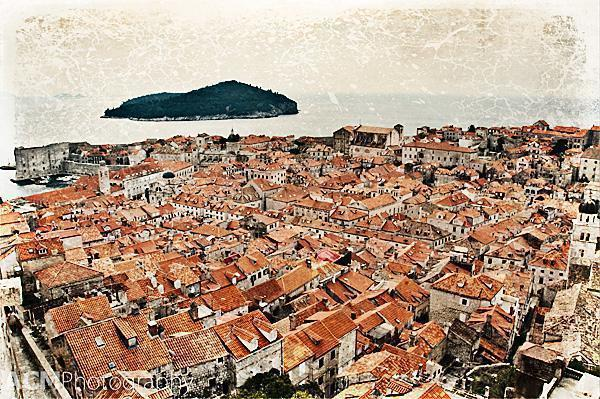 An incredible view of Dubrovnik's Old Town from the ramparts