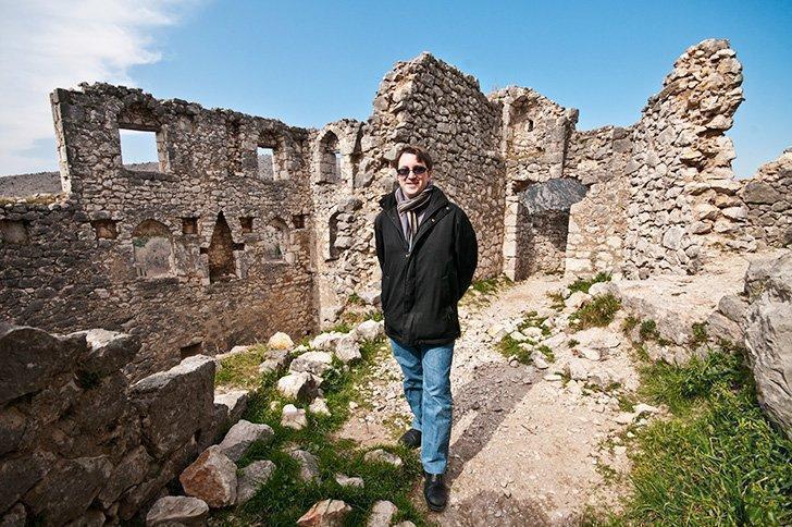 Inside the Počitelj Citadel on our Bosnia day trip from Dubrovnik