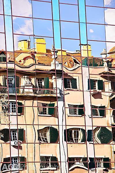 Window abstract in Lisbon