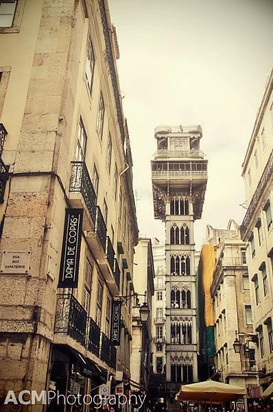 The Santa Justa Lift, Lisbon, Portugal
