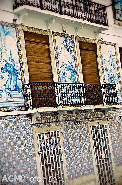 Mural and geometric azulejo tiles
