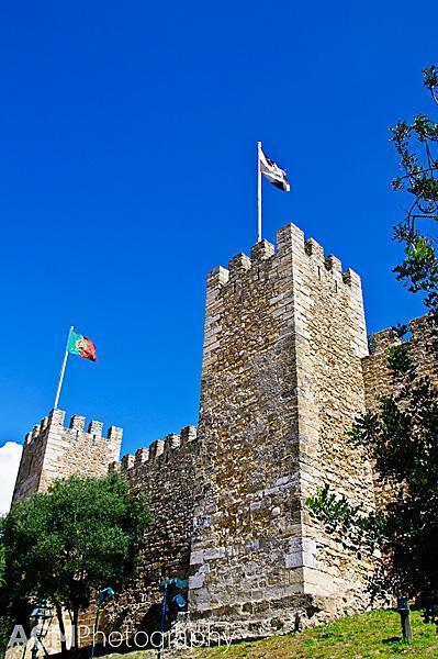 The Moorish towers of the Castle of  São Jorge